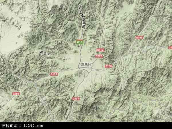 中国河北省保定市涞源县地图(卫星地图)