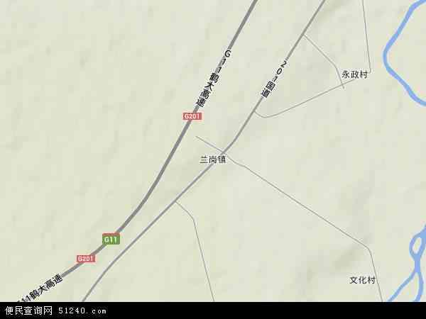中国黑龙江省牡丹江市宁安市兰岗镇地图(卫星地图)