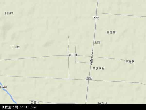 中国江苏省徐州市睢宁县岚山镇地图(卫星地图)