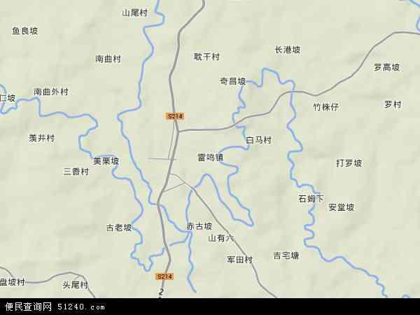 定安县雷鸣镇地图