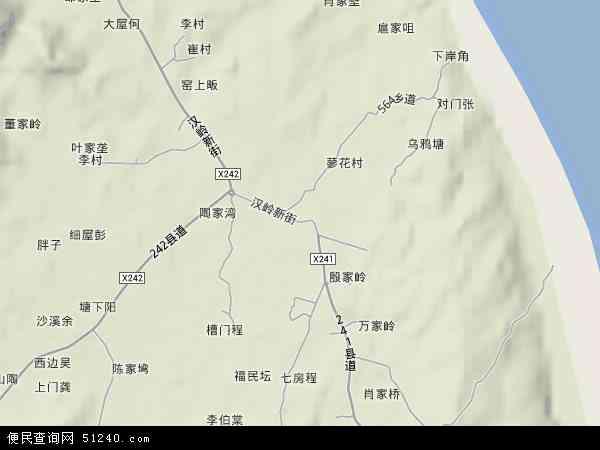 中国江西省九江市星子县蓼花镇地图(卫星地图)