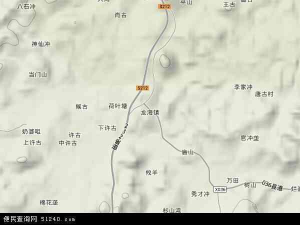 中国湖南省郴州市安仁县龙海镇地图(卫星地图)