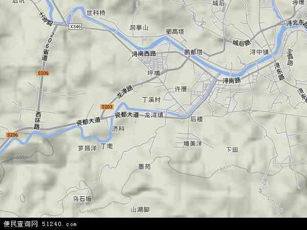 中国福建省泉州市德化县龙浔镇地图(卫星地图)