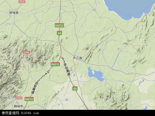 中国安徽省合肥?#26032;?#27743;县地图(卫星地图)