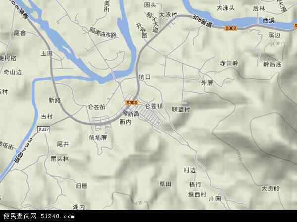 中国福建省泉州市南安市仑苍镇地图(卫星地图)