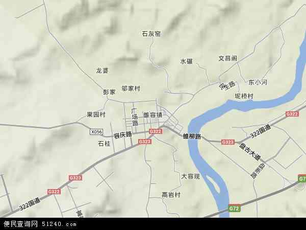 中国广西壮族自治区柳州市鱼峰区雒容镇地图