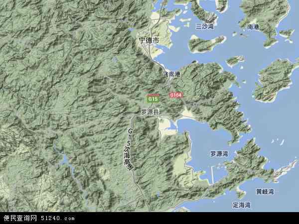 中国福建省福州市罗源县地图(卫星地图)