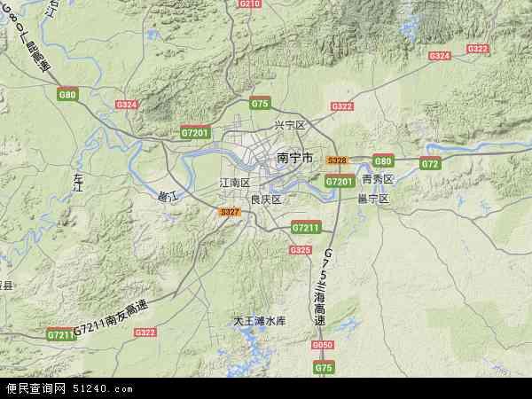 中国广西壮族自治区南宁市良庆区地图(卫星地图)-南宁市良庆区银