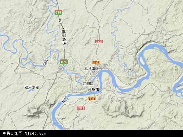 中国四川省泸州市龙马潭区地图(卫星地图)