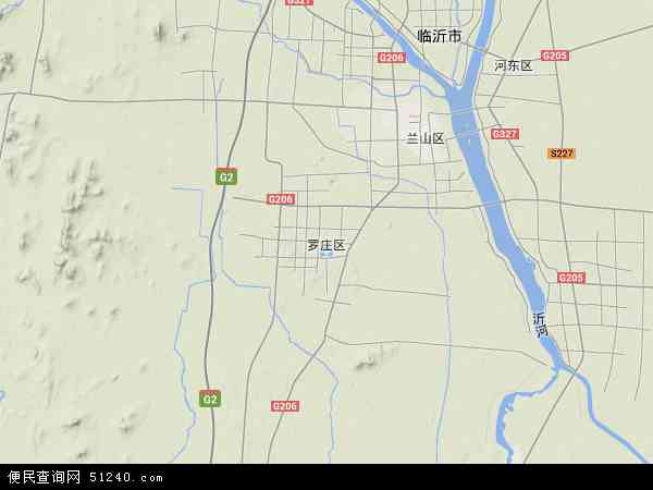罗庄区地图 - 罗庄区卫星地图