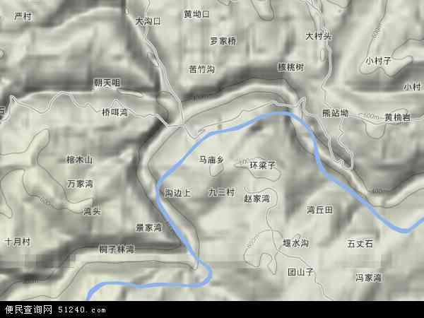 马庙乡地形地图