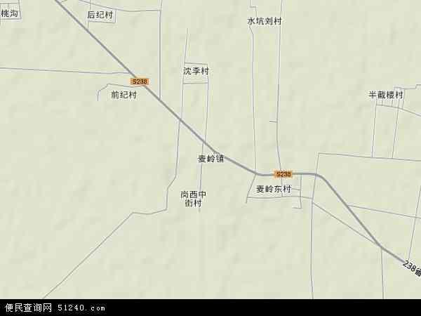 中国河南省许昌市襄城县麦岭镇地图(卫星地图)