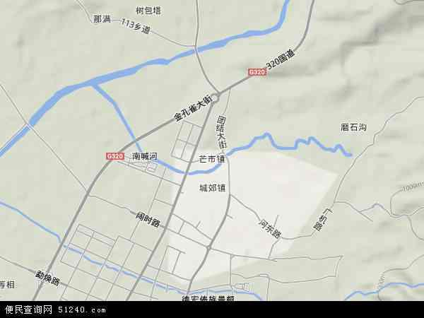 芒市镇地图 芒市镇卫星地图 芒市镇高清航拍地图图片