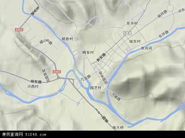 中国吉林省延边朝鲜族自治州安图县明月镇地图