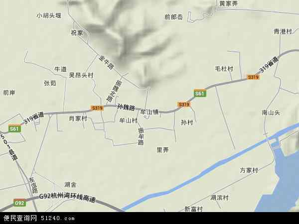 中国浙江省宁波市余姚市牟山镇地图(卫星地图)