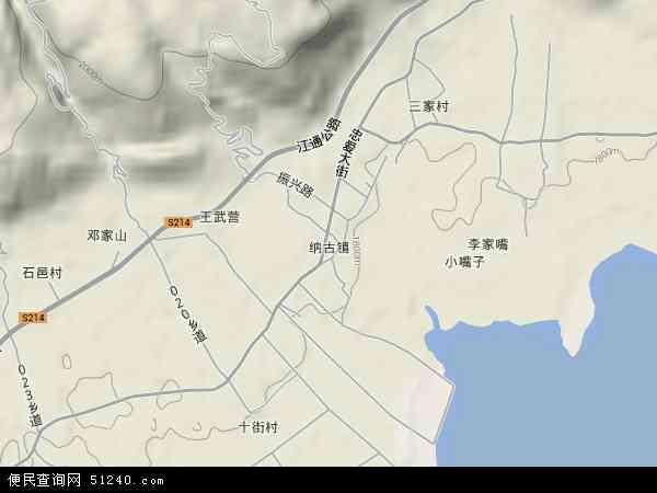 中国云南省玉溪市通海县纳古镇地图(卫星地图)