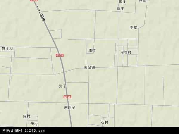 中国山东省济宁市汶上县南站镇地图(卫星地图)