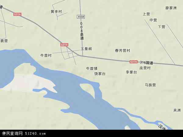中国湖北省襄阳市樊城区牛首镇地图(卫星地图)图片