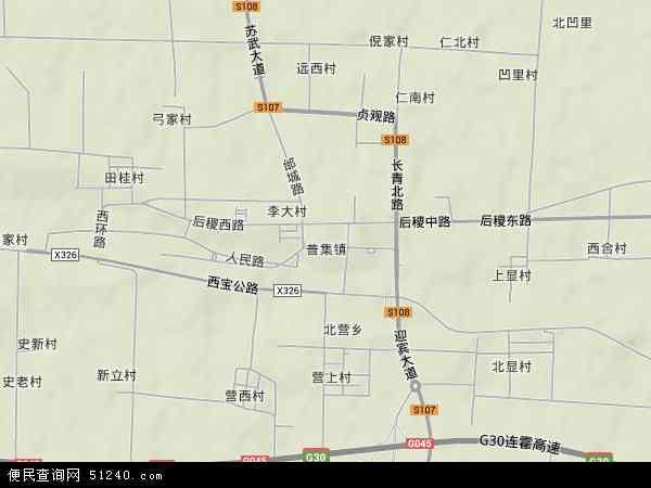 中国陕西省咸阳市武功县普集镇地图(卫星地图)图片