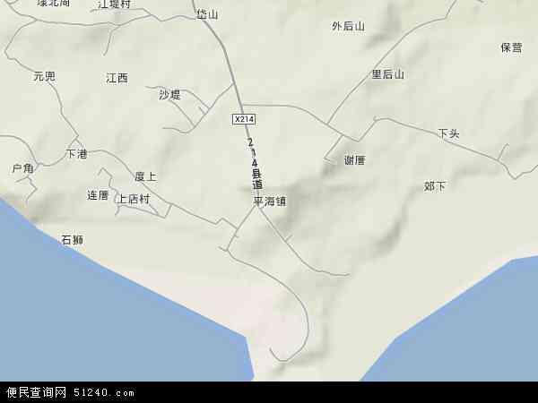 平海镇高清卫星地图 - 平海镇2016年卫星地图 - 中国福建省莆田市