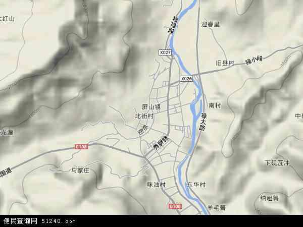 本站收录有:最新屏山地图
