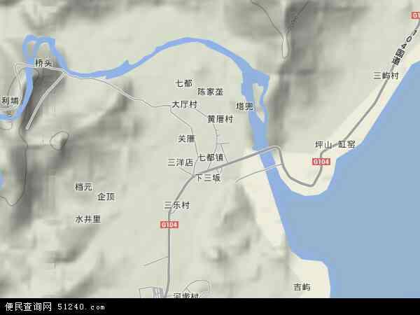 中国福建省宁德市蕉城区七都镇地图(卫星地图)