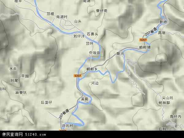 福建省漳州市平县崎岭乡地图(卫星地图)