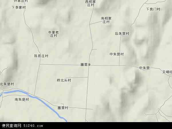 中国山东省临沂市沂水县圈里乡地图(卫星地图)
