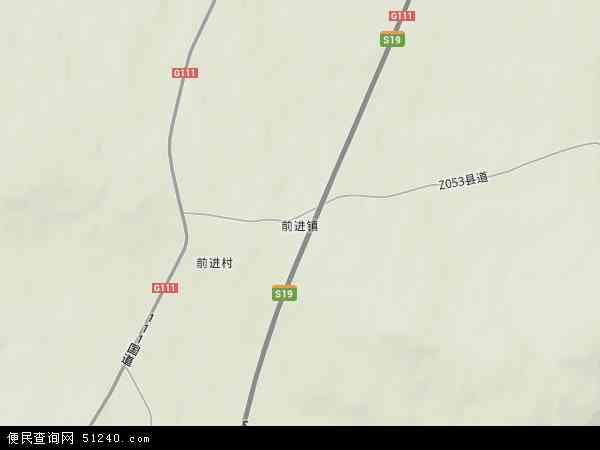 中国黑龙江省黑河市嫩江县前进镇地图(卫星地图)