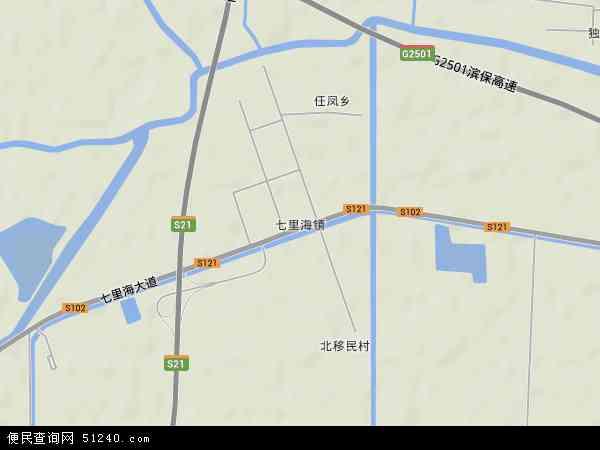 七里海镇地图 - 七里海镇卫星地图