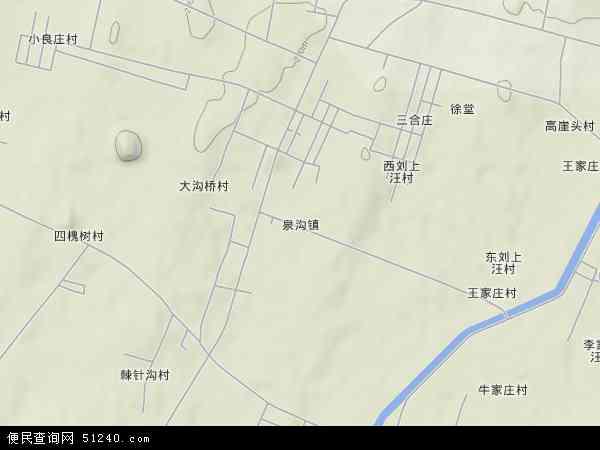 中国山东省泰安市新泰市泉沟镇地图(卫星地图)