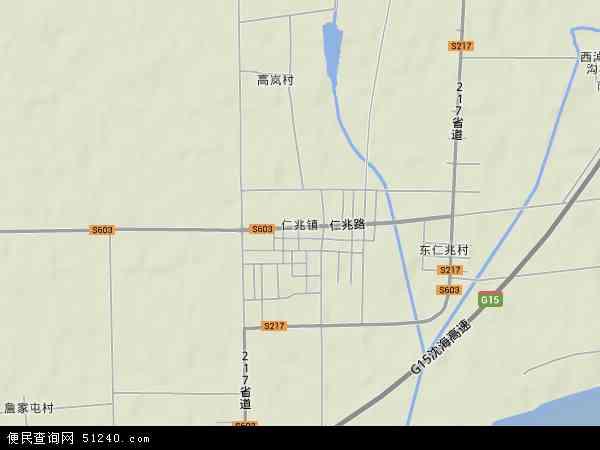 中国山东省青岛市平度市仁兆镇地图(卫星地图)