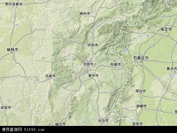 山西省地图 - 山西省卫星地图 - 山西省高清航拍地图
