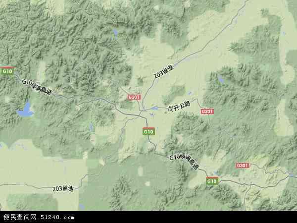 中国黑龙江省哈尔滨市尚志市地图(卫星地图)