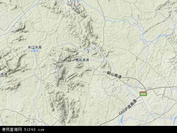 中国湖南省湘潭市韶山市地图(卫星地图)