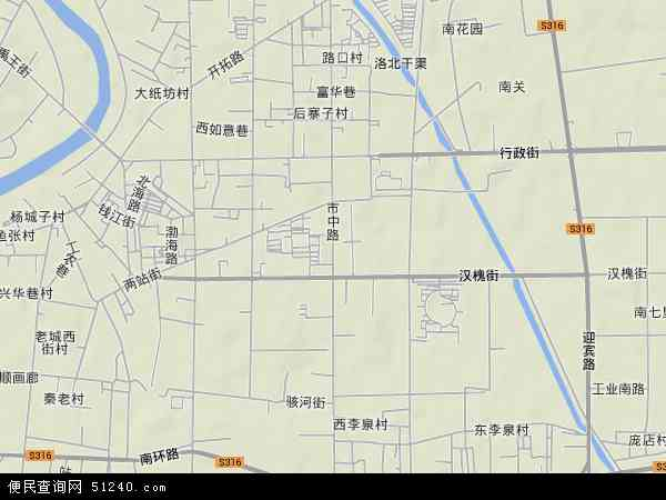 中国山东省德州市禹城市市中地图(卫星地图)