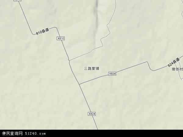 最新三路里镇地图,2016三路里镇地图高清版,三路里镇电子地图,2015三
