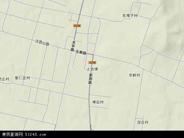 中国山东省临沂市费县上冶镇地图(卫星地图)