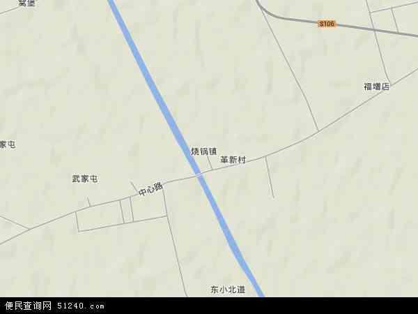 中国吉林省长春市农安县烧锅镇地图(卫星地图)