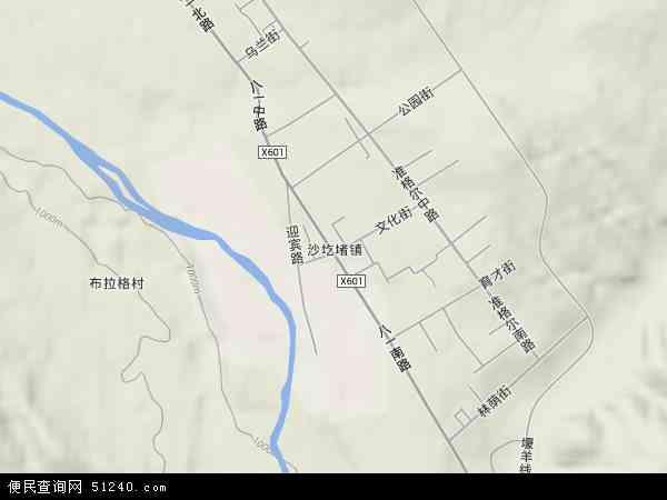 准格尔旗沙圪堵镇地图