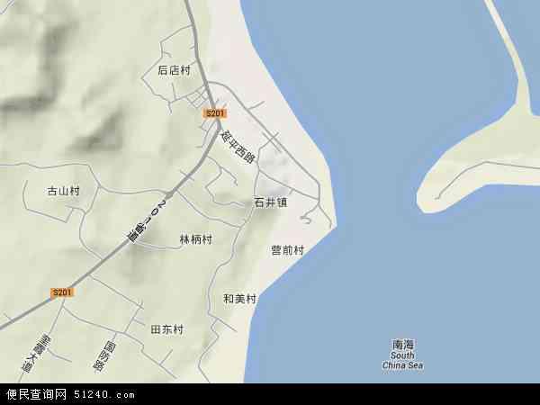 中国福建省泉州市南安市石井镇地图(卫星地图)