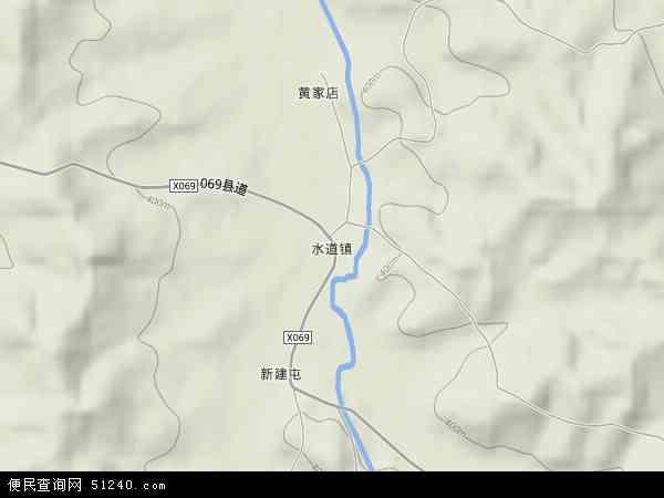 中国吉林省通化市梅河口市水道镇地图(卫星地
