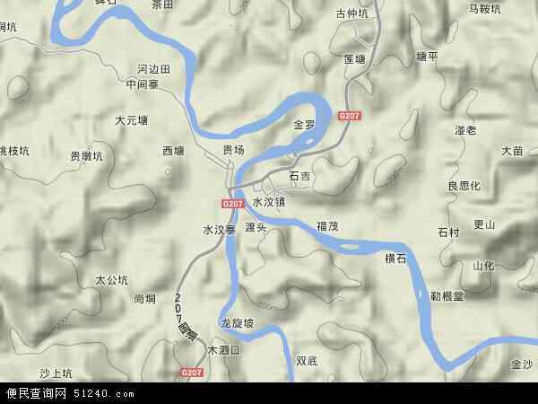 水汶镇地图 - 水汶镇卫星地图