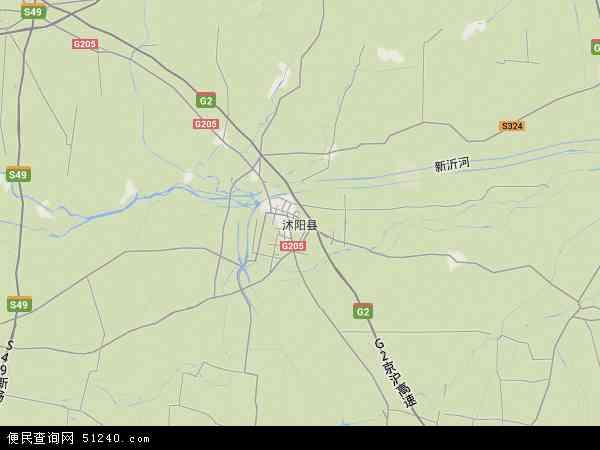 沭阳县地图 - 沭阳县卫星地图
