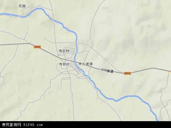 寺儿堡镇地图 - 寺儿堡镇卫星地图