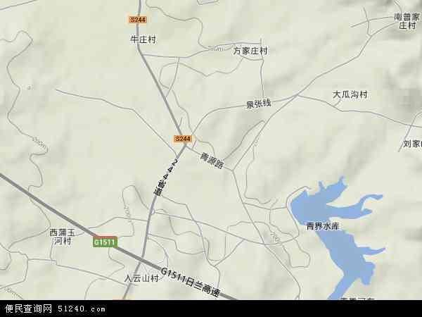 泗张镇2017年卫星地图 中国山东省济宁市泗水县泗张镇地图