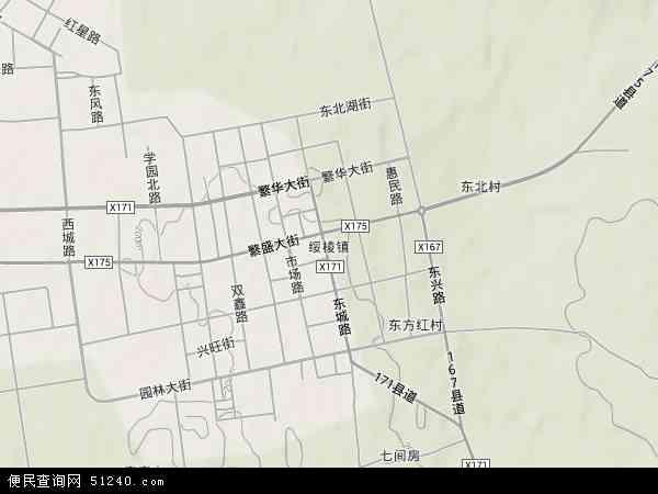 黑龙江省绥棱县城镇地图展示