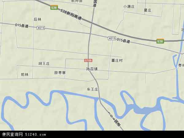 中国河南省驻马店市新蔡县孙召镇地图(卫星地图)