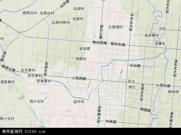 中国河北省邯郸市复兴区胜利桥地图(卫星地图)图片