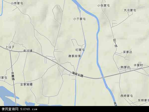 中国辽宁省大连市普兰店市唐家房地图(卫星地图)图片